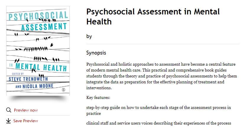 Sample psychosocial assessment