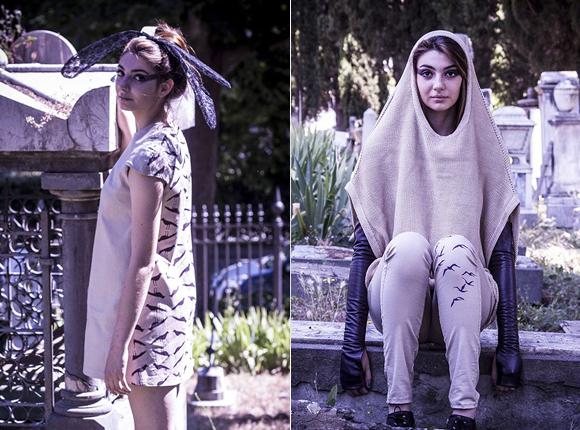 Fashion design: Anna Bezmen, art inspiration: Aleksandra Kabakova