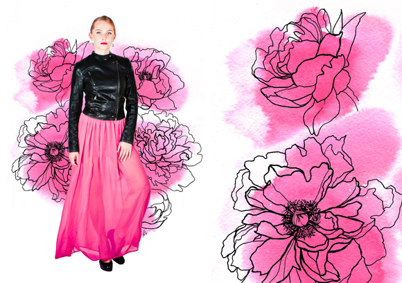 Fashion design: Marina Karpova, illustration: Aleksandra Kabakova, photography: Vasiliy Danilin