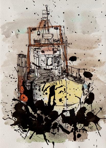 2008, pen & ink, watercolours